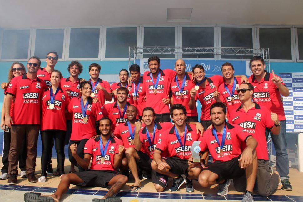 Com atletas da casa, polo aquático masculino do Sesi-SP é campeão do Brasil Open 2019