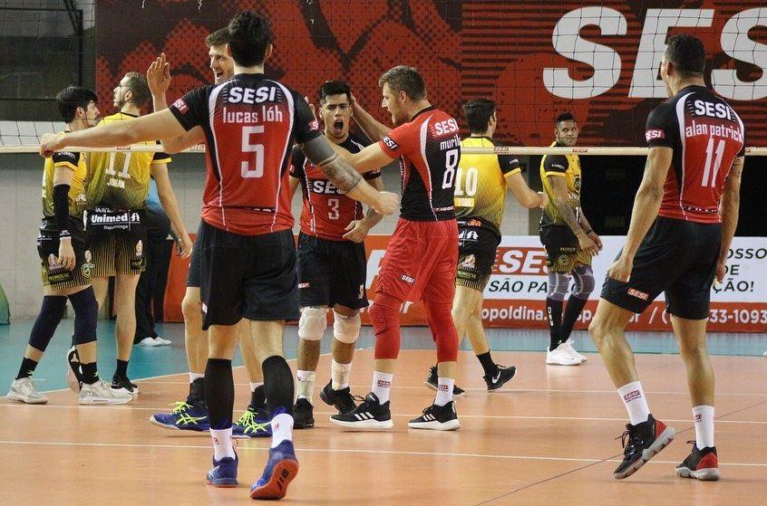 Vôlei do Sesi-SP mantém invencibilidade após terceira vitória no Campeonato Paulista