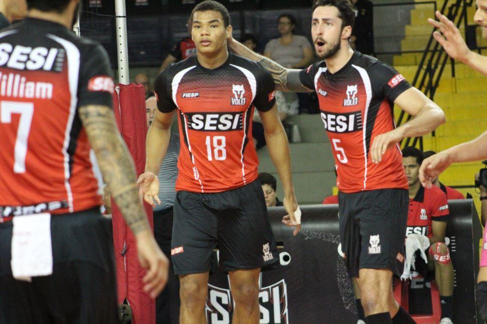Time do Sesi-SP vence segundo jogo e garante vaga na semifinal do Paulista 2019