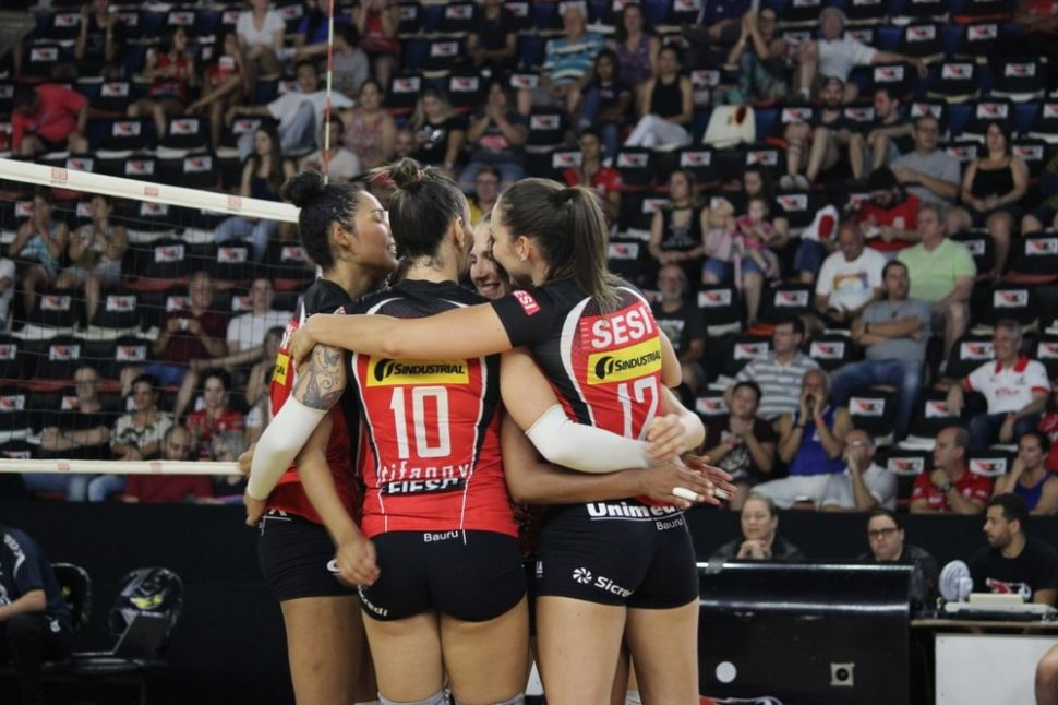 Sesi Vôlei Bauru vence Osasco por 3 a 1 e segue direto para a semifinal do Paulista 2019