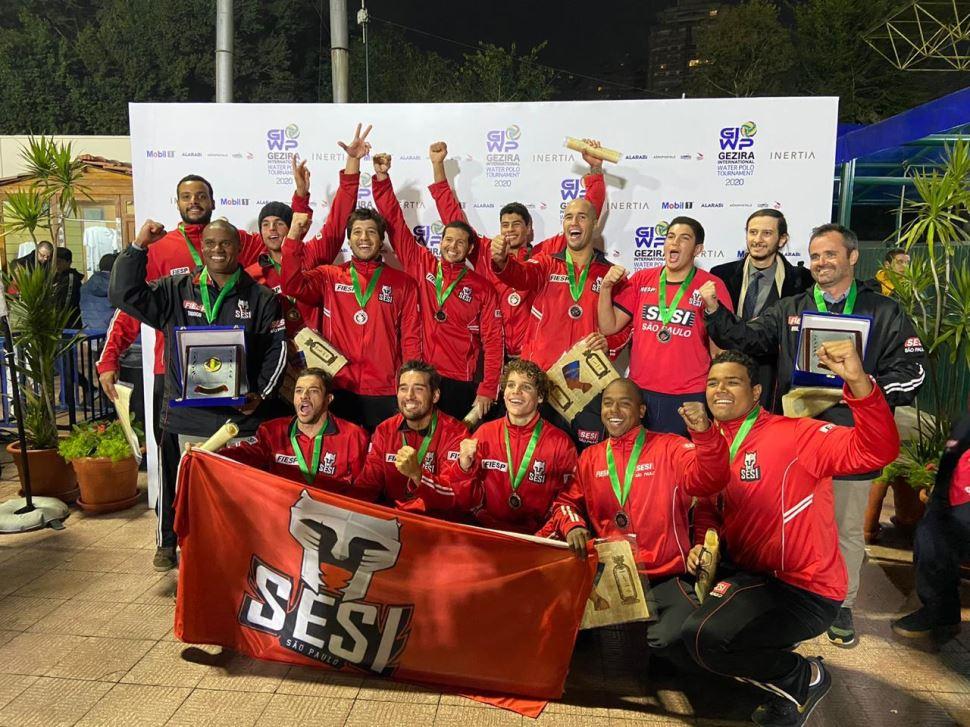 Representando o Brasil, Sesi-SP garante 3º lugar em Torneio Internacional de Polo Aquático no Egito