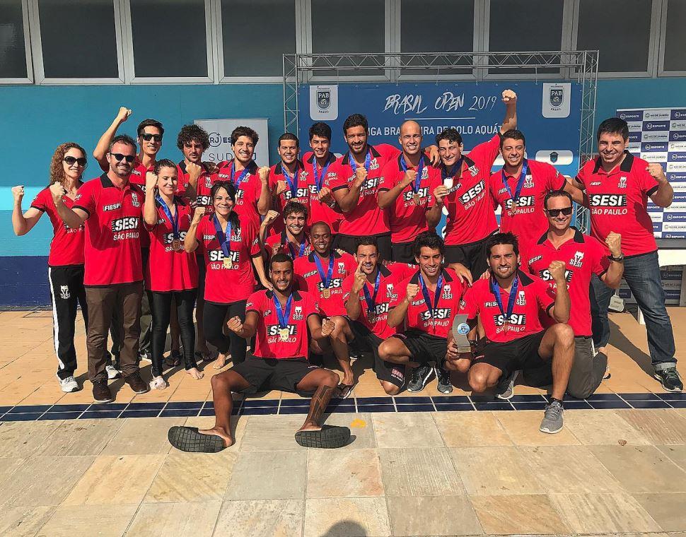 Polo aquático do Sesi-SP garante título de campeão do ranking de clubes de 2019