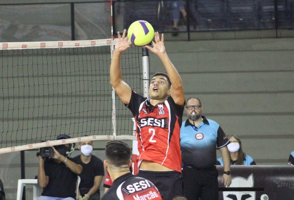 Sesi-SP vai até Campinas nesta quarta-feira (23) para enfrentar o Vôlei Renata no Campeonato Paulista 2020