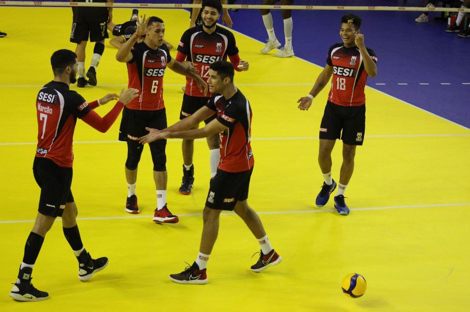 Sesi-SP estreia com vitória na Superliga masculina 2020/2021
