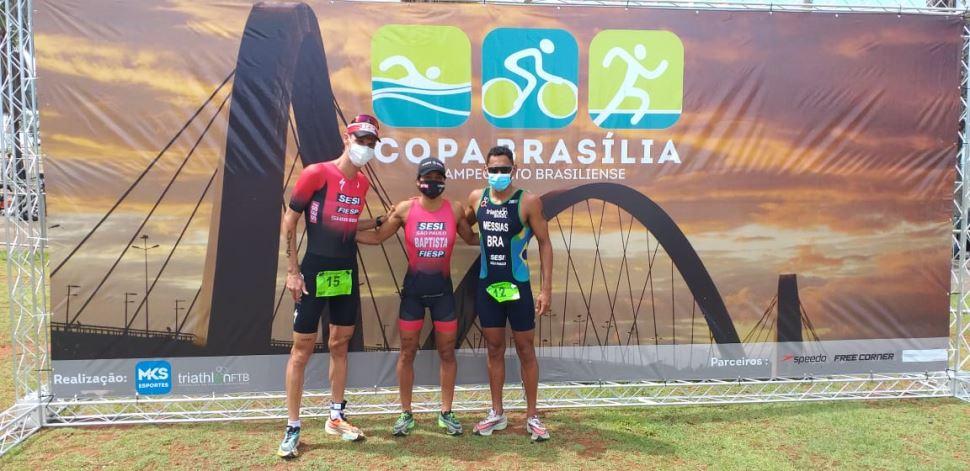 Equipe de Triathlon do Sesi-SP sobe ao pódio da Copa Brasília de Triathlon 2020