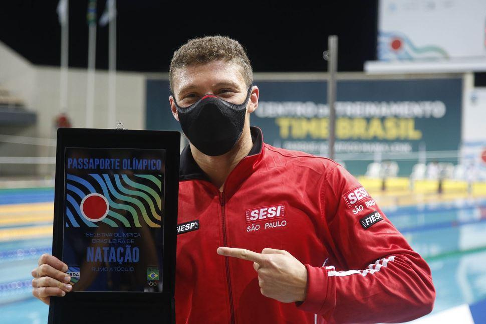 Matheus Gonche confirma índice nos 100m borboleta e garante vaga nos Jogos Olímpicos de Tóquio
