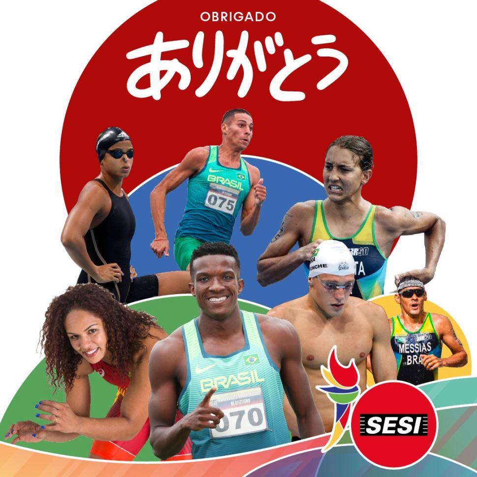 Atletas do Sesi-SP que estiveram em Tóquio retornam para casa com bagagem repleta de experiências