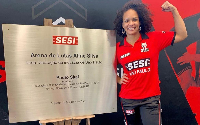 Tenho no Sesi o reconhecimento que gostaria de ter do Brasil, diz Aline Silva após homenagem