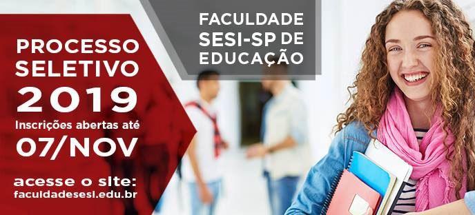 Faculdade SESI-SP: inscrições abertas até 07/11
