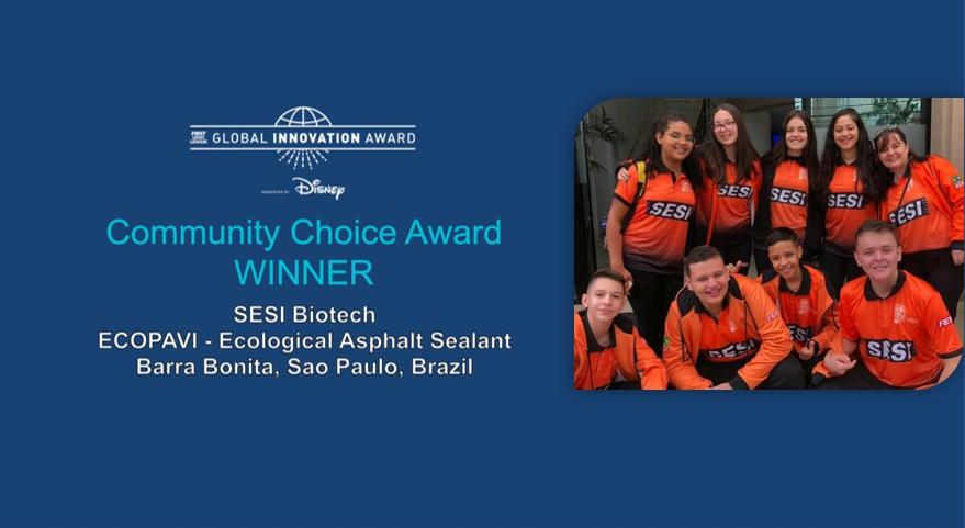 Equipe de robótica da rede escolar SESI-SP vence prêmio internacional de inovação