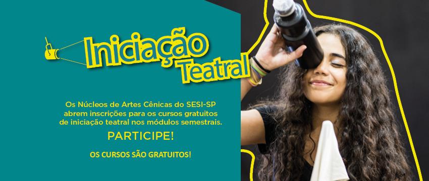 SESI SÃO BERNARDO DO CAMPO OFERECE CURSO GRATUITO DE TEATRO