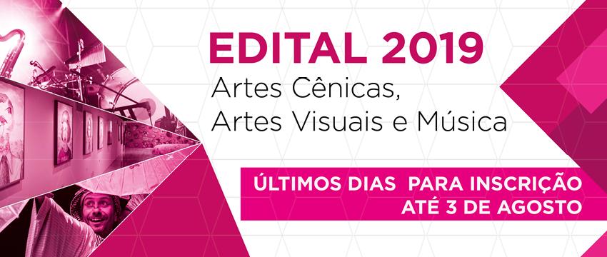 As inscrições de projetos culturais para o ano de 2019 encerram dia 3 de agosto