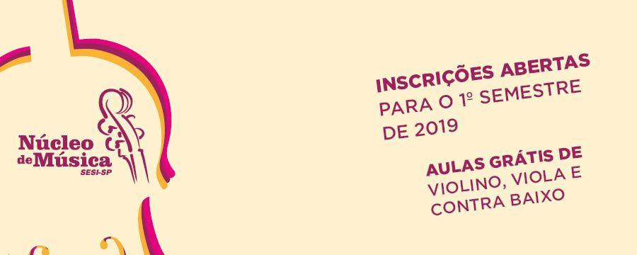 SESI São Carlos oferece cursos gratuitos do Núcleo de Música