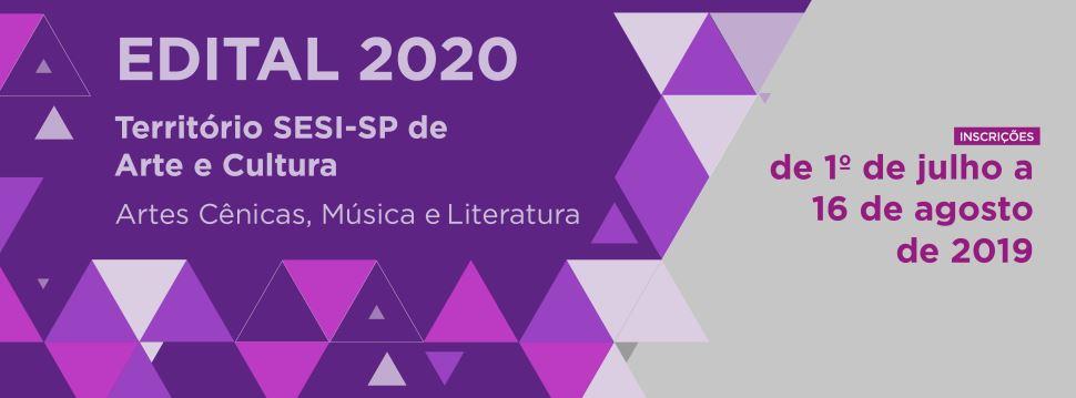 SESI-SP seleciona artistas e produções culturais para compor sua programação de 2020