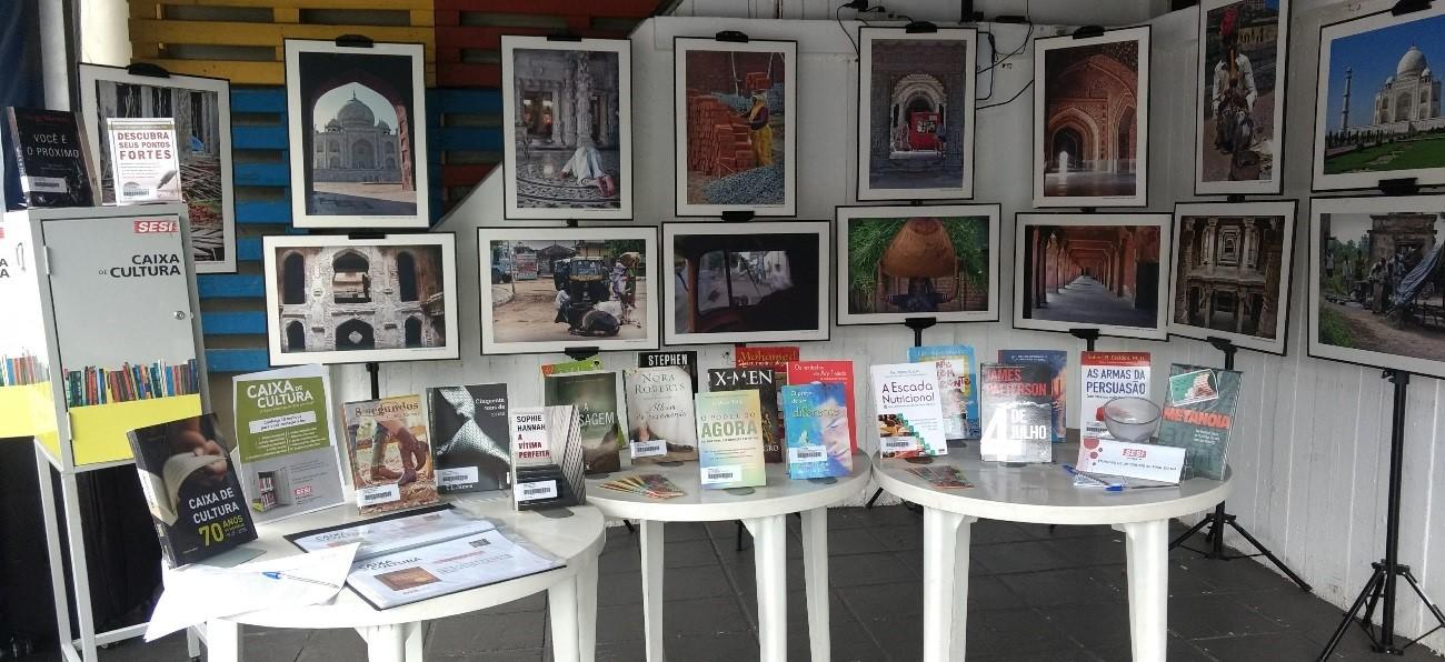 Caixa de Cultura: Acervo de até 100 livros e exposição itinerante