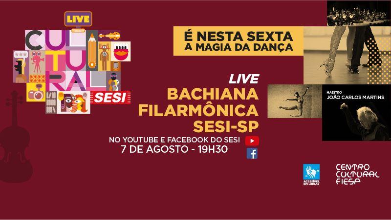 Em 7/8, live A Magia da Dança, com a Bachiana Sesi-SP