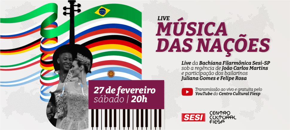 Centro Cultural Fiesp apresenta a live Música Das Nações