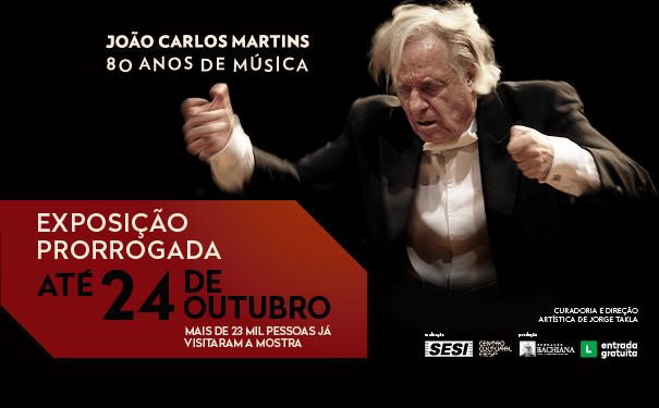Exposição que conta a trajetória do Maestro João Carlos Martins é prorrogada até 24 de outubro, no Centro Cultural Fiesp