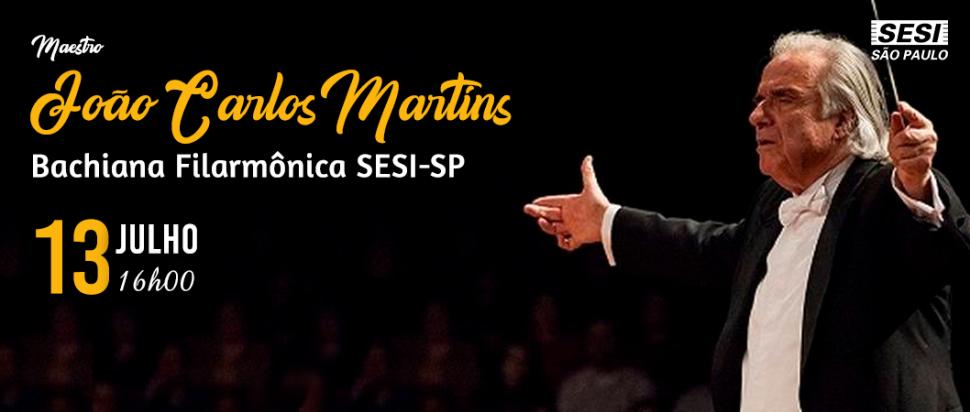Maestro João Carlos Martins se apresenta no SESI AE Carvalho