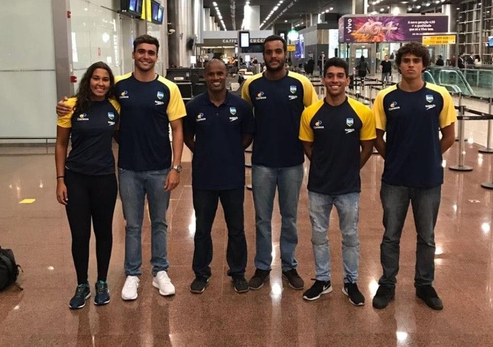 Julia Cardoso, Gabriel Bellio, Matheus Junqueira, Vinicius Pessin e Matheus Braz