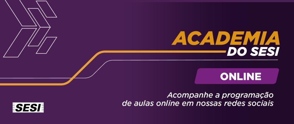 Academia do Sesi Online: seu treino em dia, no conforto da sua casa