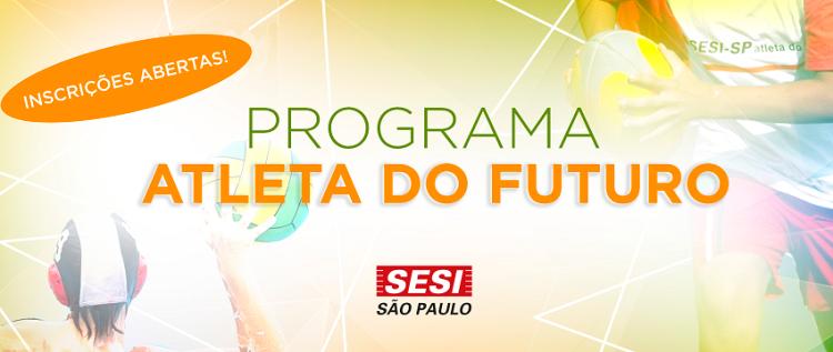 Inscrições para Programa Atleta do Futuro 2019 - 2º Semestre