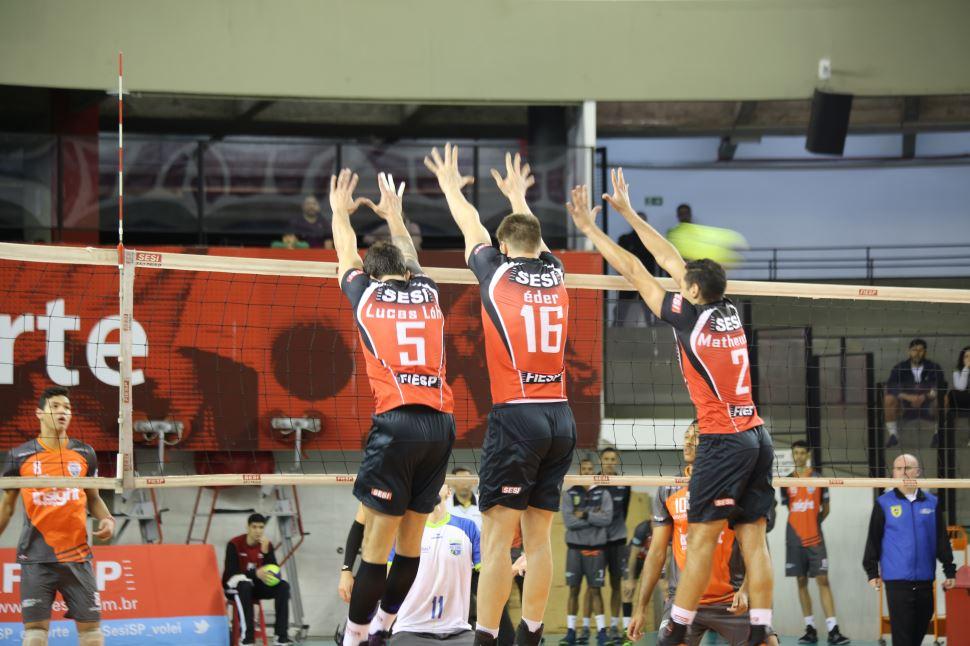 Vôlei masculino do Sesi-SP volta a vencer no Campeonato Paulista 2019