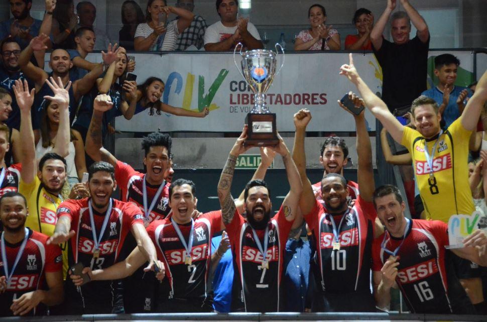 Sesi-SP é campeão da Copa Libertadores de Voleibol 2020