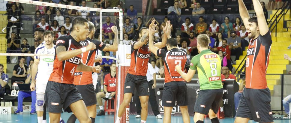 Sesi-SP vence Sada Cruzeiro por 3 sets a 0 na 9ª rodada da Superliga Banco do Brasil